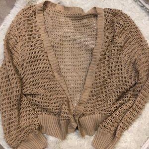 Knit beaded cardigan bolero